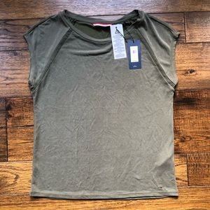 NWT! Olive/Military Green super soft accent tee